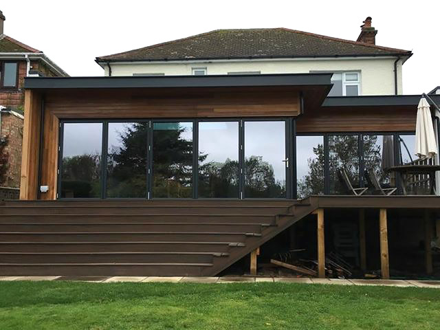 Stylish new raised extension for house in Kent